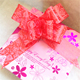 Hot Sale Rose Print Ribbon Christmas Decoration Gift Red Pull Bow