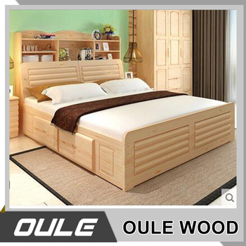 Queen Size Bed Malaysia Style Solid Wood Bed Double Bed Designs