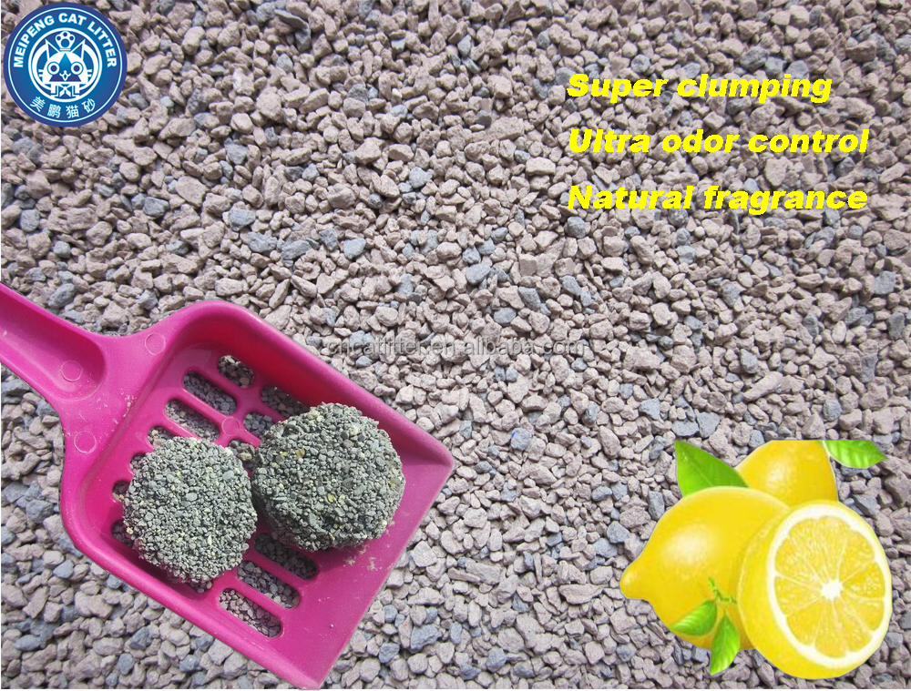 Pet product Bentonite cat litter with super clumping
