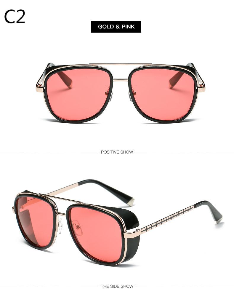 491ce6b9e Tony Stark Iron Man Sunglasses Men Luxury Brand Eyewear Mirror Punk Sun  Glasses Vintage Male Sunglasses Steampunk Oculos ironman