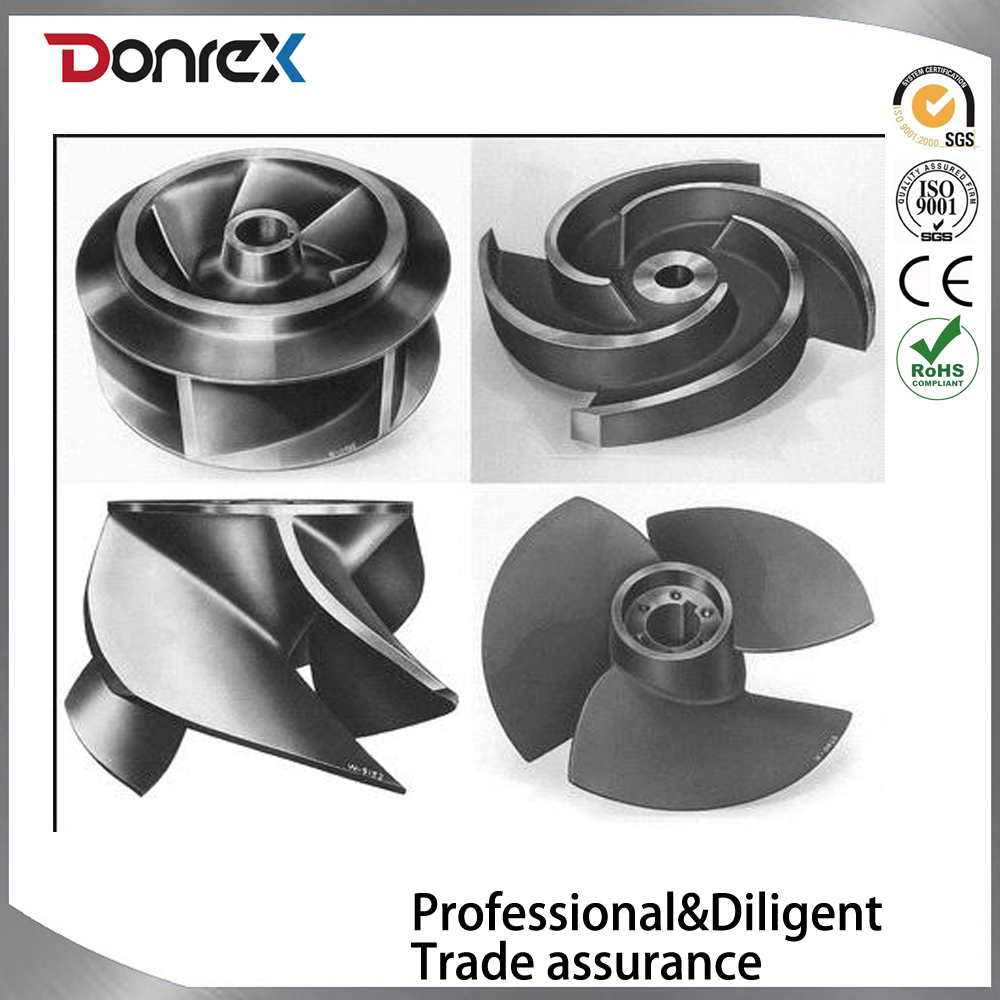 Investment casting Stainless_Steel_Water_Pump_Impeller_Casting_Parts OEM