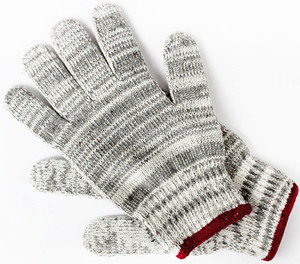 hot sell 2016 Big hand gloves/Natural grey knitted cotton gloves