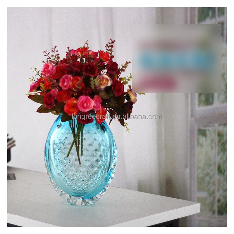 Liefelijk romantische decoraties vaas woonkamer tafel vaas blauw ...