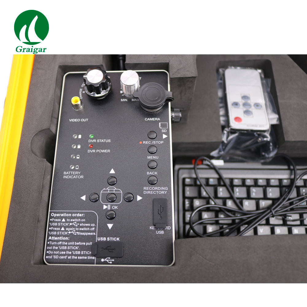 Top Quality 710DNLK Deep Well Inspection Camera with 512 Transmitter and Keyboard, DVR