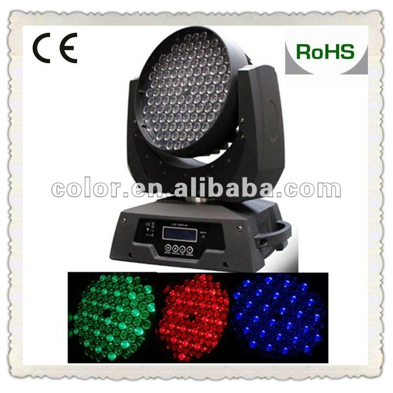 GuangZhou RGBW 108*3w moving head led dj disco effect light led city color