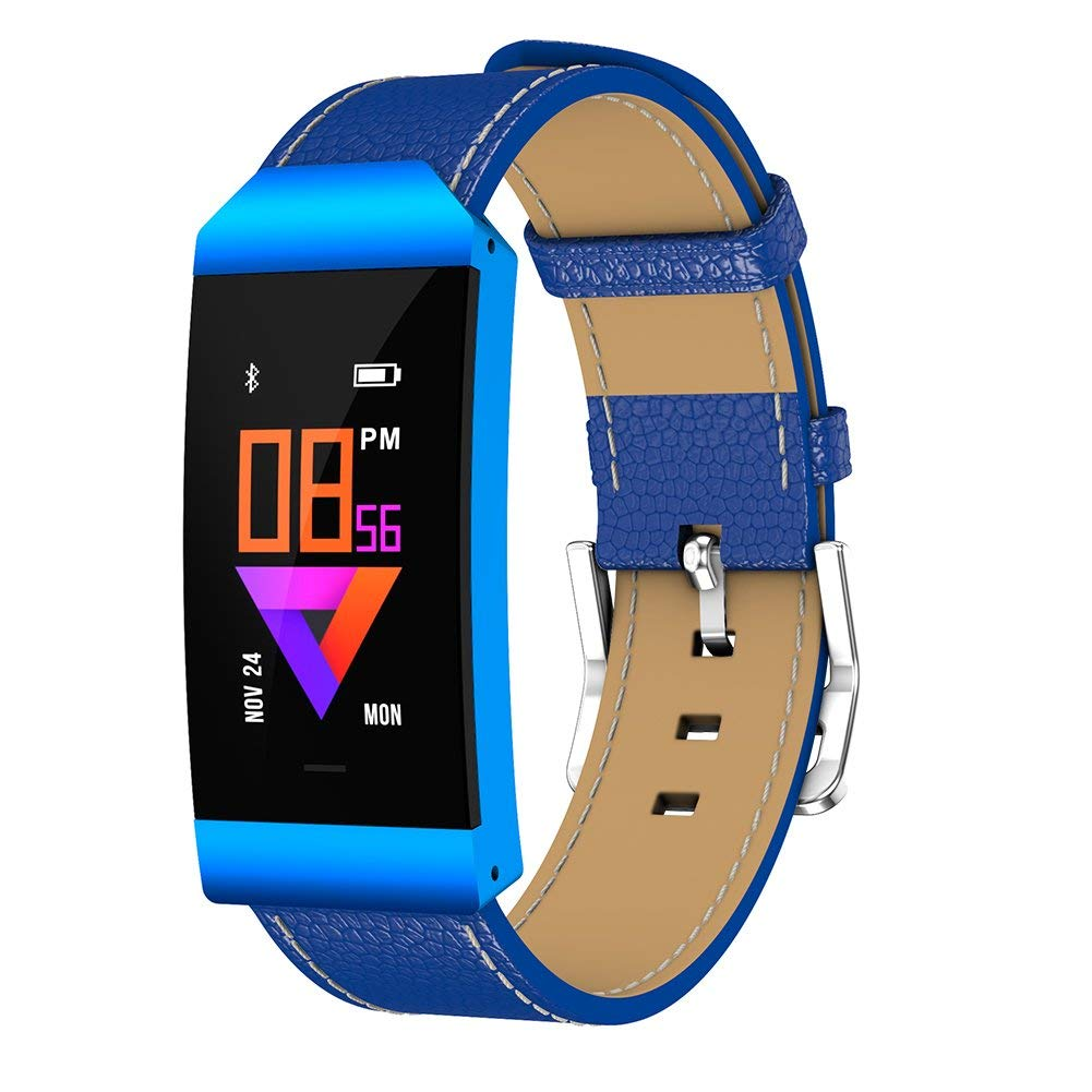 Uhruolo Fitness Tracker With Pedometer Blood Oxygen Heart Rate Blood Pressure Monitoring Smart Watch Activity Tracker Waterproof Fitness Watch,Blue