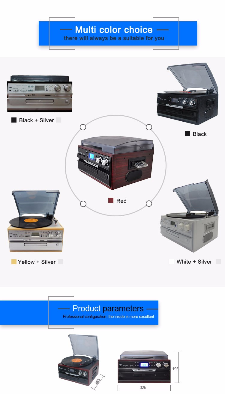 high end piano painting phonograph vinyl record player with built in speakers for sale buy. Black Bedroom Furniture Sets. Home Design Ideas