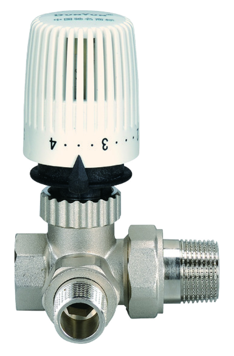 Three way brass Thermostatic valve with male and female union