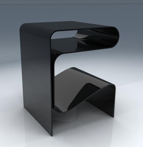 black color R shape relaxation style acrylic table