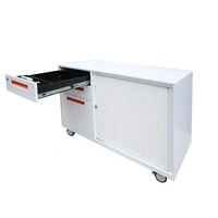 Hot Sale Steel Tambour Door Mobile Lower Pedestal Cabinet