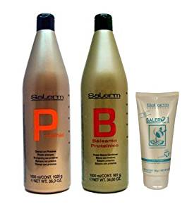 Salerm Protein Shampoo 1000ml + Balsam Conditioner 1000ml + 21 Leave in Conditioner 200ml (Combo Set) by Vidimear [Beauty]