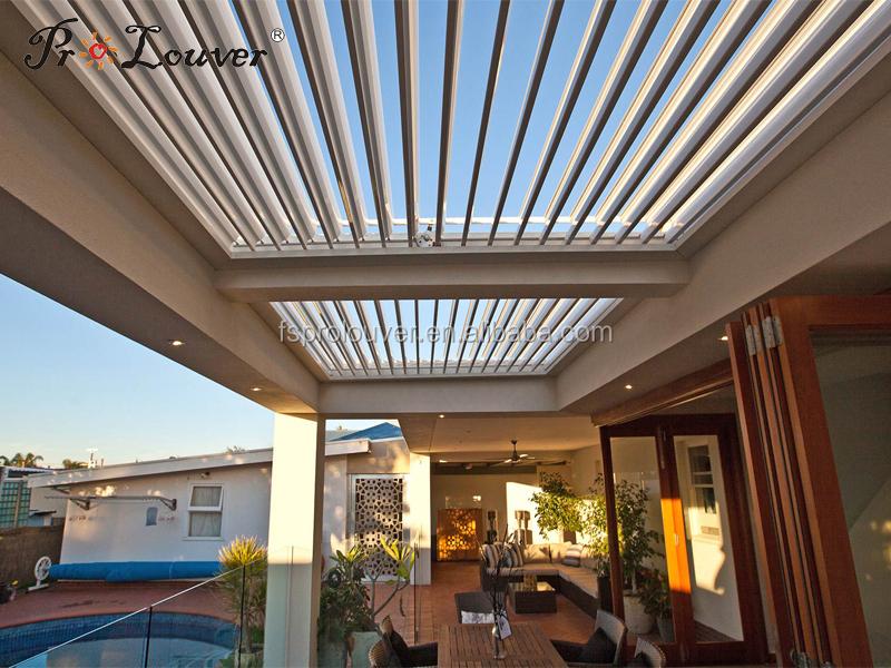 Aluminum Pergola Waterproof Opening Roof Sun Louver Buy