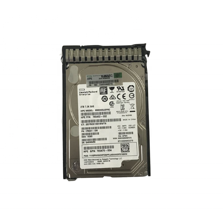 Originale 2.5 hard disk drive 765466-B21 765452-002 765470-004 MM2000JEFRC ST2000NX0273 765466b21 G8 G10 commercio all'ingrosso hdd