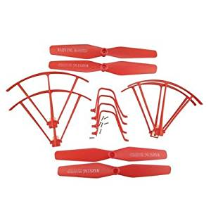 UUMART Syma X5UC X5UW RC Quadcopter Spare Parts Upgraded Propeller+Protector+Landing Skid -Red