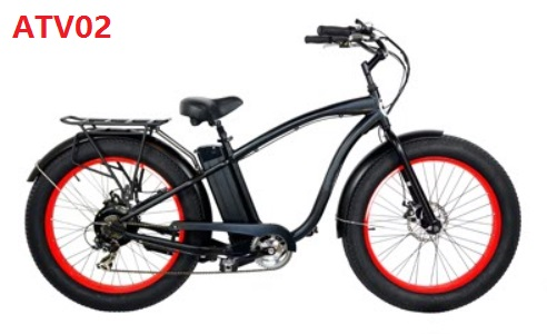 Aluminum Frame Fat Tire Beach Cruiser Bikes Electric Beach Cruiser ...