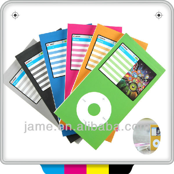 OEM colorful music of app style notepads memo