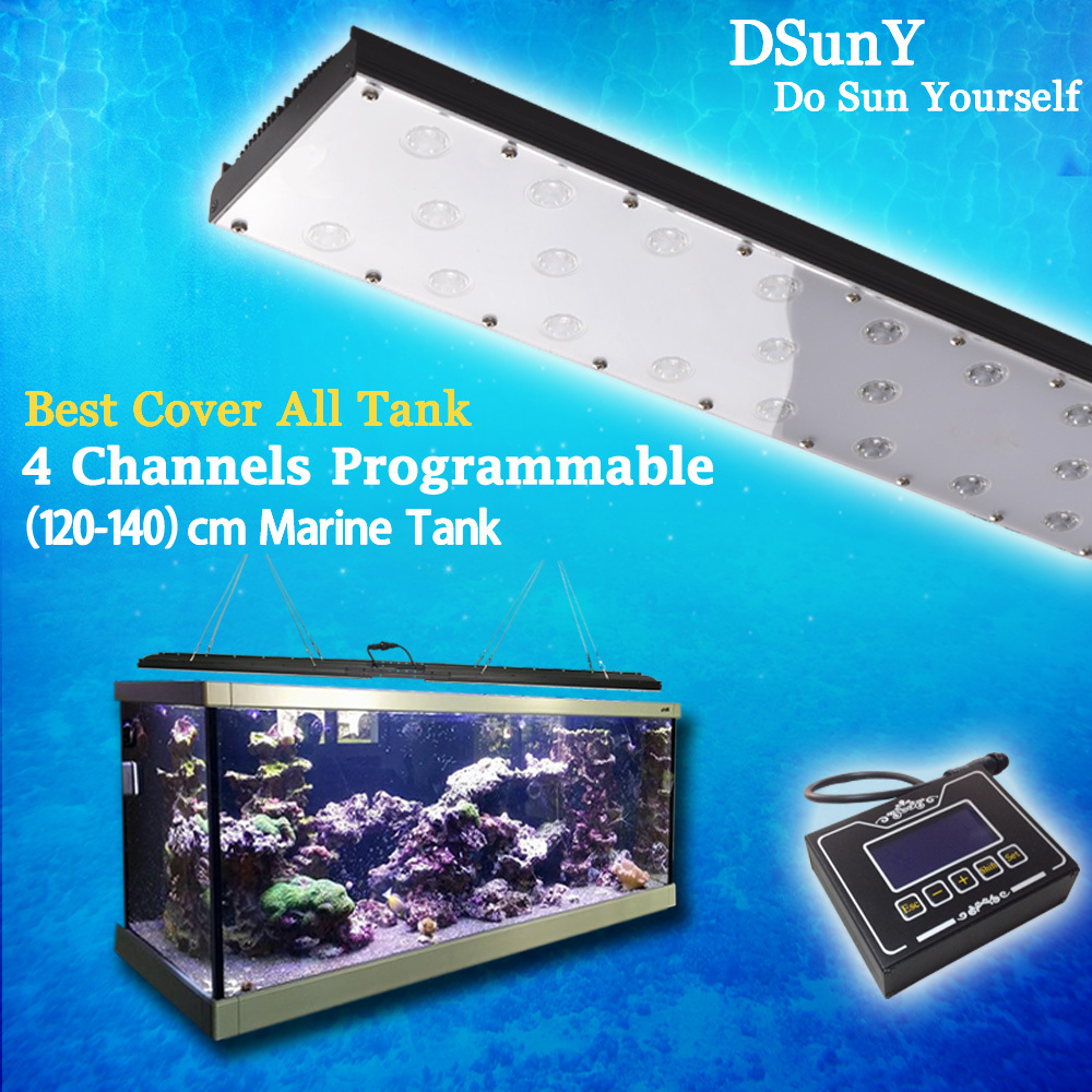 Dsuny 2pcs 24'' 4channels Programmable Led Reef Aquarium Light ...