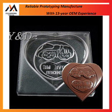 Heart Love square Boy and girl Love Heart Shaped Candy Molds Polycarbonate font Chocolate