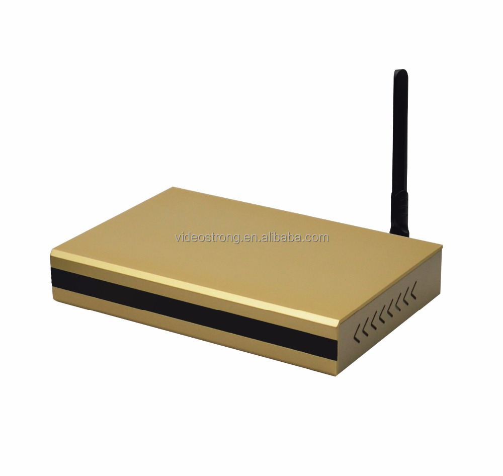 Metal case & Aluminium alloy housing Amlogic S905D Android Hybrid TV BOX DVB T2 Android DVB S2 <strong>satellite</strong> receiver
