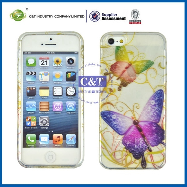 Hotest protecter for iphone 5 sublimation case soft tpu