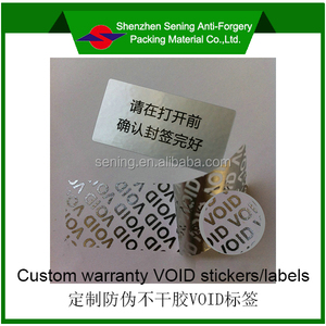 PET electronic security VOID label/sticker/seals