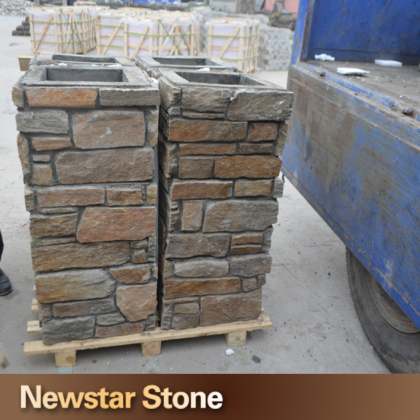 Natural Stone Columns : Decorative door slate natural stone column buy
