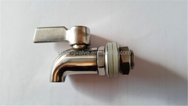hot sale stainless steel wine barrel faucet/stainless steel drum tap