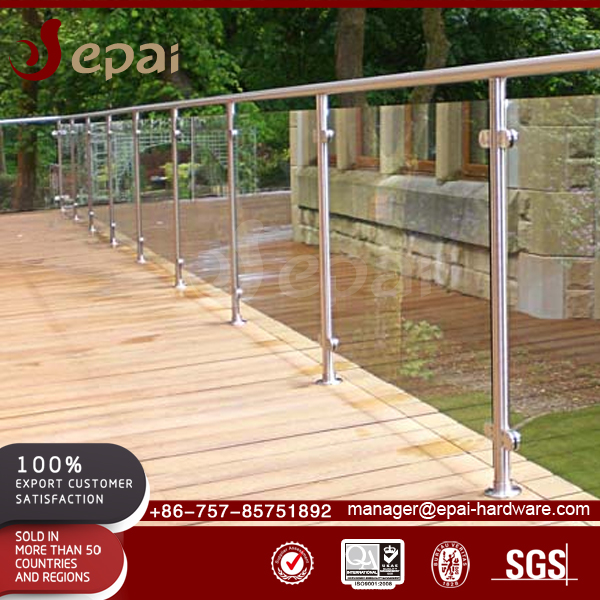 Customized best price indoor staircase glass outdoor balcony railing