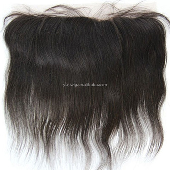 "2016 7A Malaysian Remy Human Hair Silk Straight 13x4"" Lace Frontal Free Part Black"