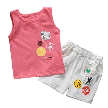baby clothes set summer cotton Baby clothing set two pcs