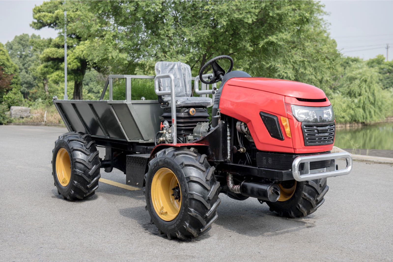 4WD Palm Garden Articulated Transporter Tractor(id:9603436