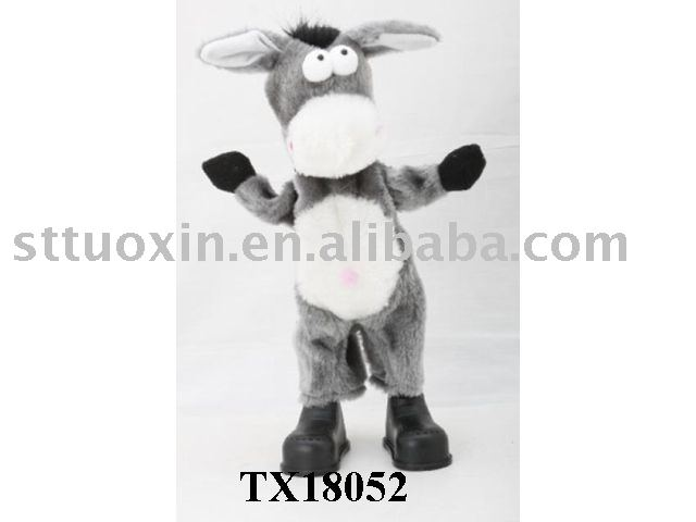 soft plush donkey doll w/ dancing & sing