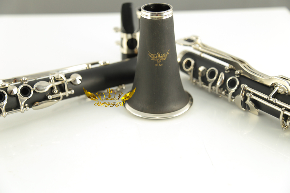 Roffee Musical instrument ABS body 17 keys nickel plated G tone clarinet
