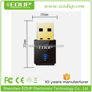 EDUP 802.11 n/g/b 300Mbps Mini driver-free wireless N usb adapters with Realtek 8192CU Chipset EP-N1557