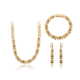 S-12 xuping Dubai gold artificial imitation jewelry designs China wholesale promotion zircon copper jewelry set