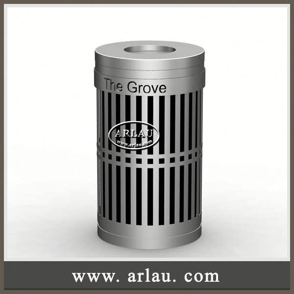 Arlau Decorative Triangular Bin Trash Recycling Bins,Garbage Can Dustbin,Outdoor Recyle Smoking/Ash Waste Bin