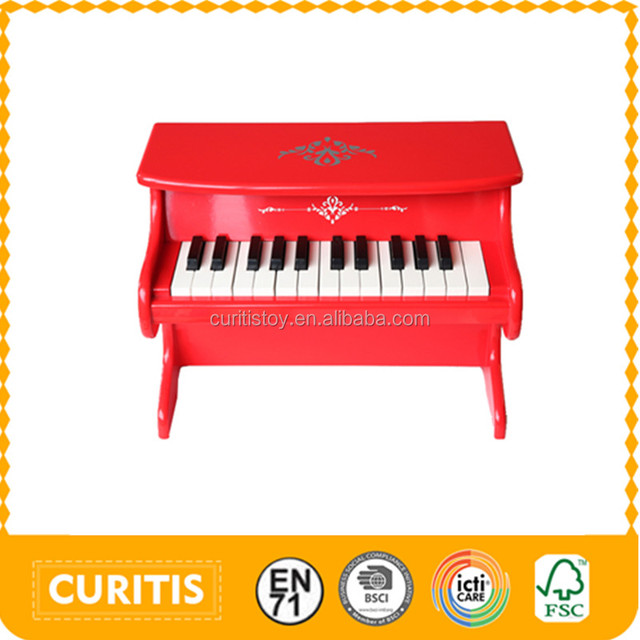 Kids Play Games Educational Manipulative Toys Red Small Piano Keyboard  Banjo Musical Instruments 25 Keys Wooden Roller Piano - Buy Roller  Piano,Small
