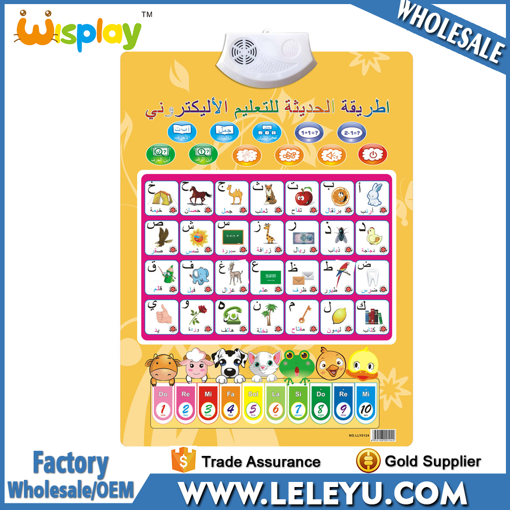 2017 <strong>Arabic</strong> Alphabet Chart Learning Poster Kids Study Wall Chart