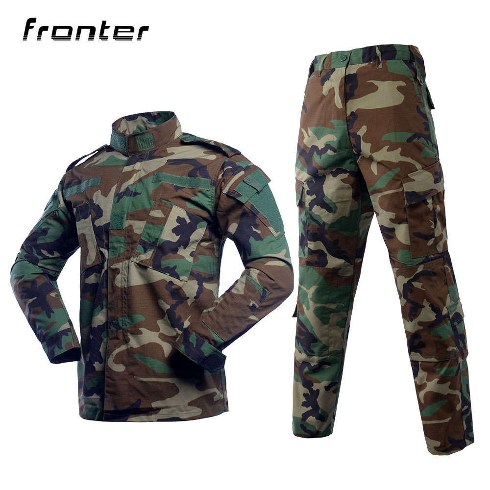 Nach Military Kleidung/Woodland Camouflage Security Guard Uniformen