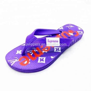 e8af39250 Wholesale Kids Logo Printed PVC Beach Flip Flops Slippers Children Cheap Flip  Flop Slipper Sandals