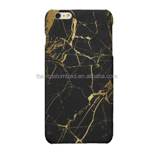 Black Gold marble Custom cell phone case for iPhone 6 6plus,custom logo for iphone case