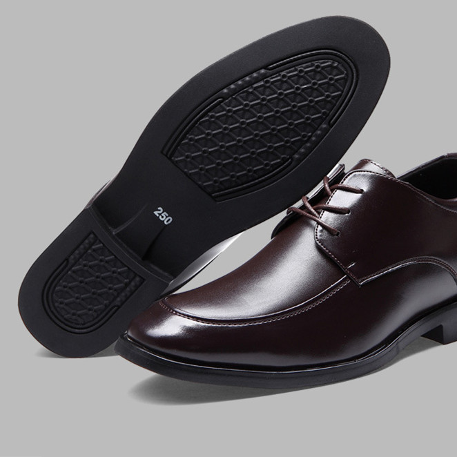 hot sale genuine leather men dress shoes anti-slip rubber outsole elevator shoes men height increasing shoes