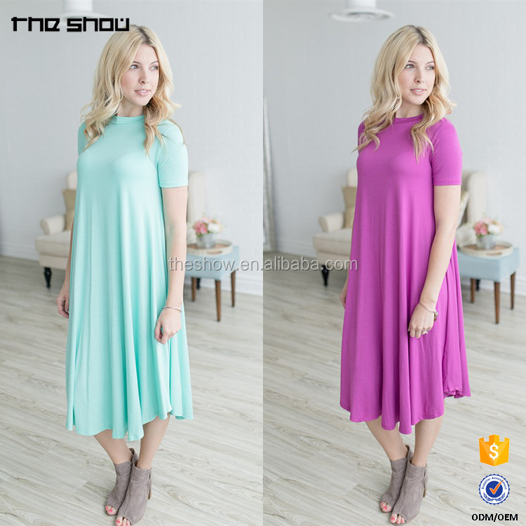 OEM manufacturer women casual one size fits all summer dresses