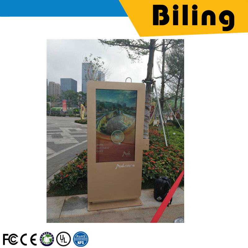 good quality 5501UA AD Player outdoor kiosk mobile advertising poster55Inch Screen