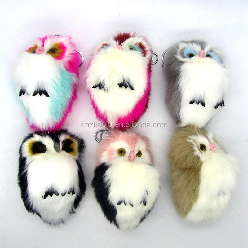 2017 Winter Factory Mini Cute Owl Keychain Plush Stuffed Animal