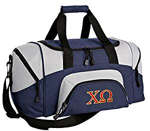 SMALL Chi Omega Gym Bag Deluxe Chi O Travel Duffel Bag