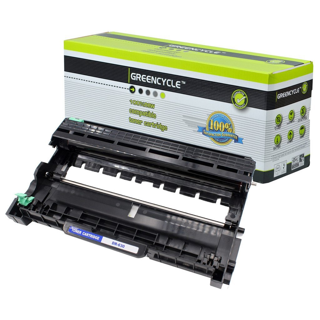 GREENCYCLE 1 Pack DR630 DR-630 High Yield Black Drum Unit Compatible for Brother DCP-L2520DW DCP-L2540DW Laser Printer(1PK DR630)
