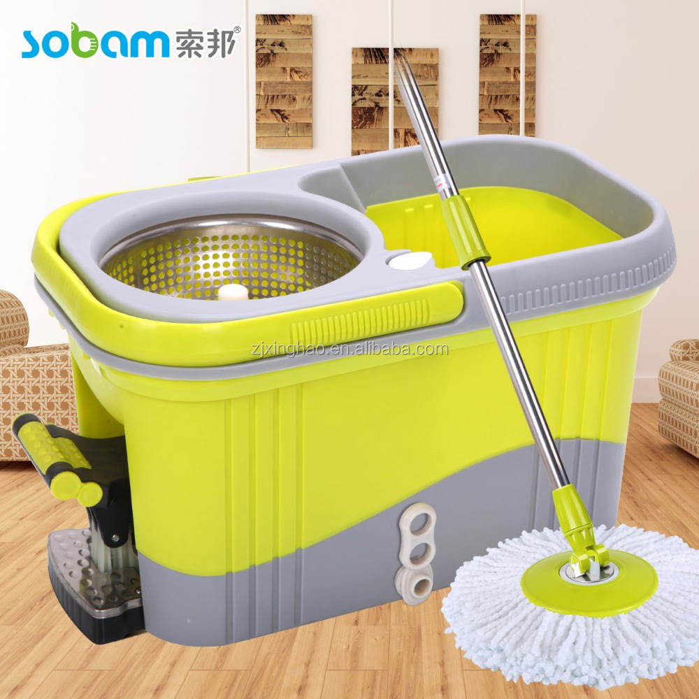 Gift twist spin mop bucket with foot pedal,big capacity,mop head
