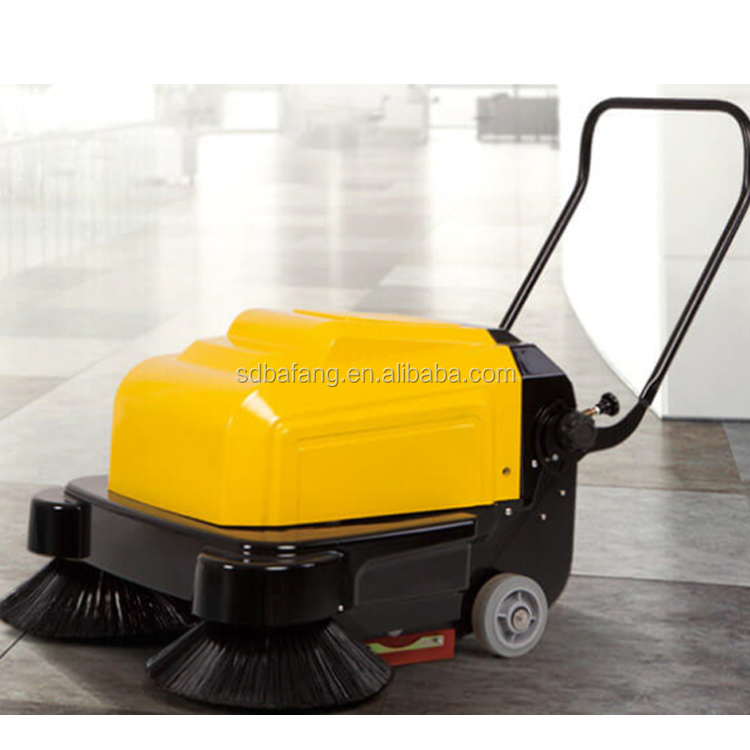 Easy operation hand push sweeper