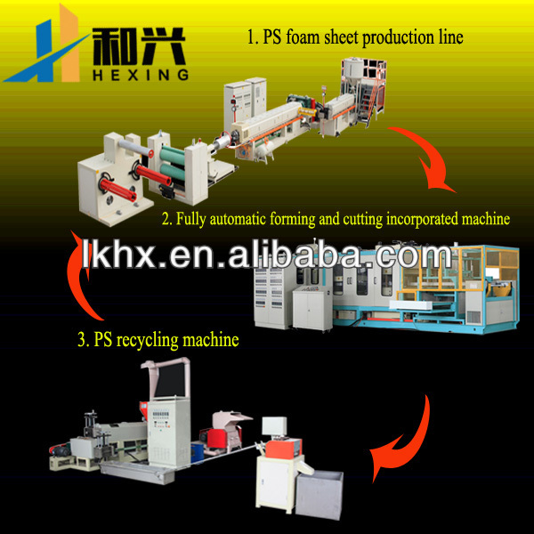 PS plastiac foam full-automatic container food packaging machine